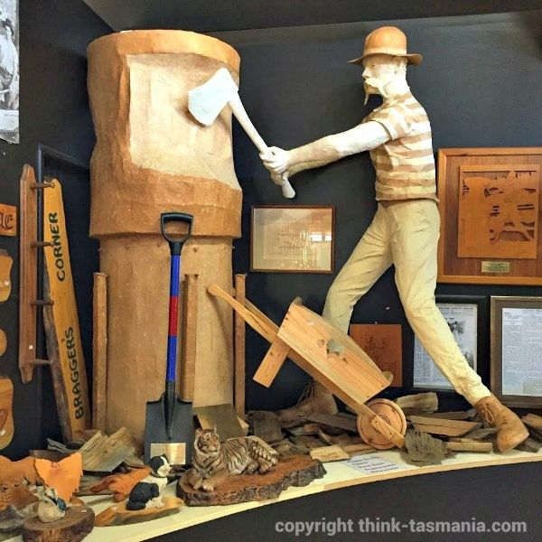 Australian Axeman's Hall of Fame ~ article and photo for think-tasmania.com ~ #woodchopping #Latrobe #Tasmania #tourism #sport