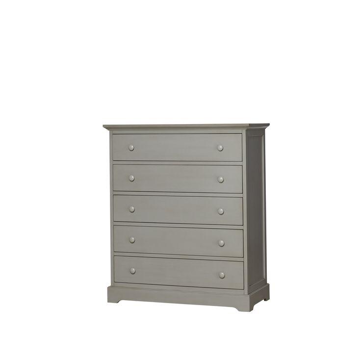 Munire Chesapeake 5 Drawer Chest-Light Grey (Light Grey), Size 5-drawer