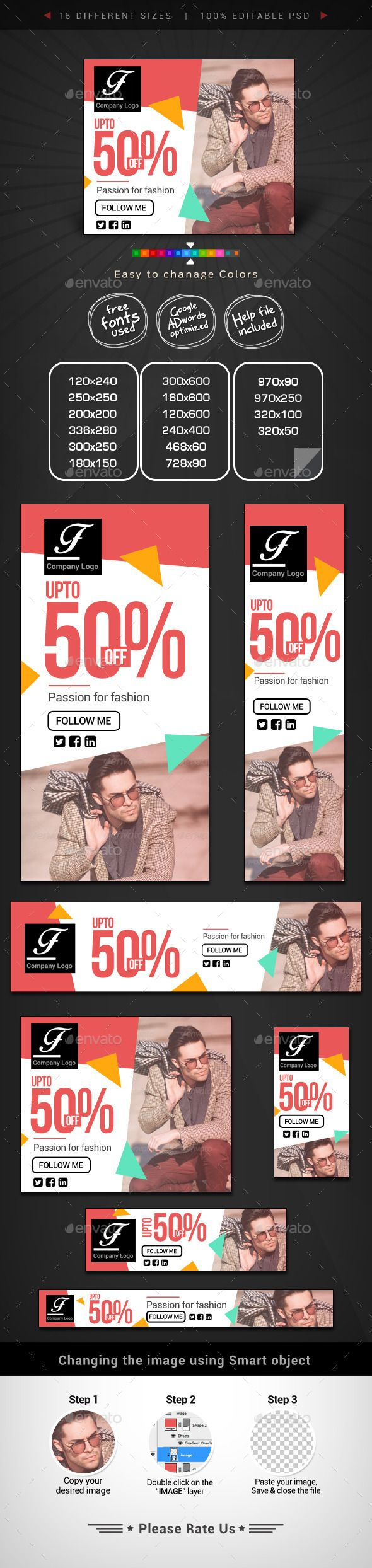 Design google banner ads - Fashion Retail Web Banner Design