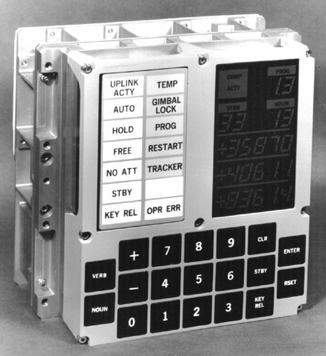 This Apollo Guidance Computer measures 8 X 10 inches.  Compared to the present day iPhone5, the iPhone is 1.8 million times more powerful.   Apollo Computer: 36 kb IPhone 5: 64 million kb Wow!