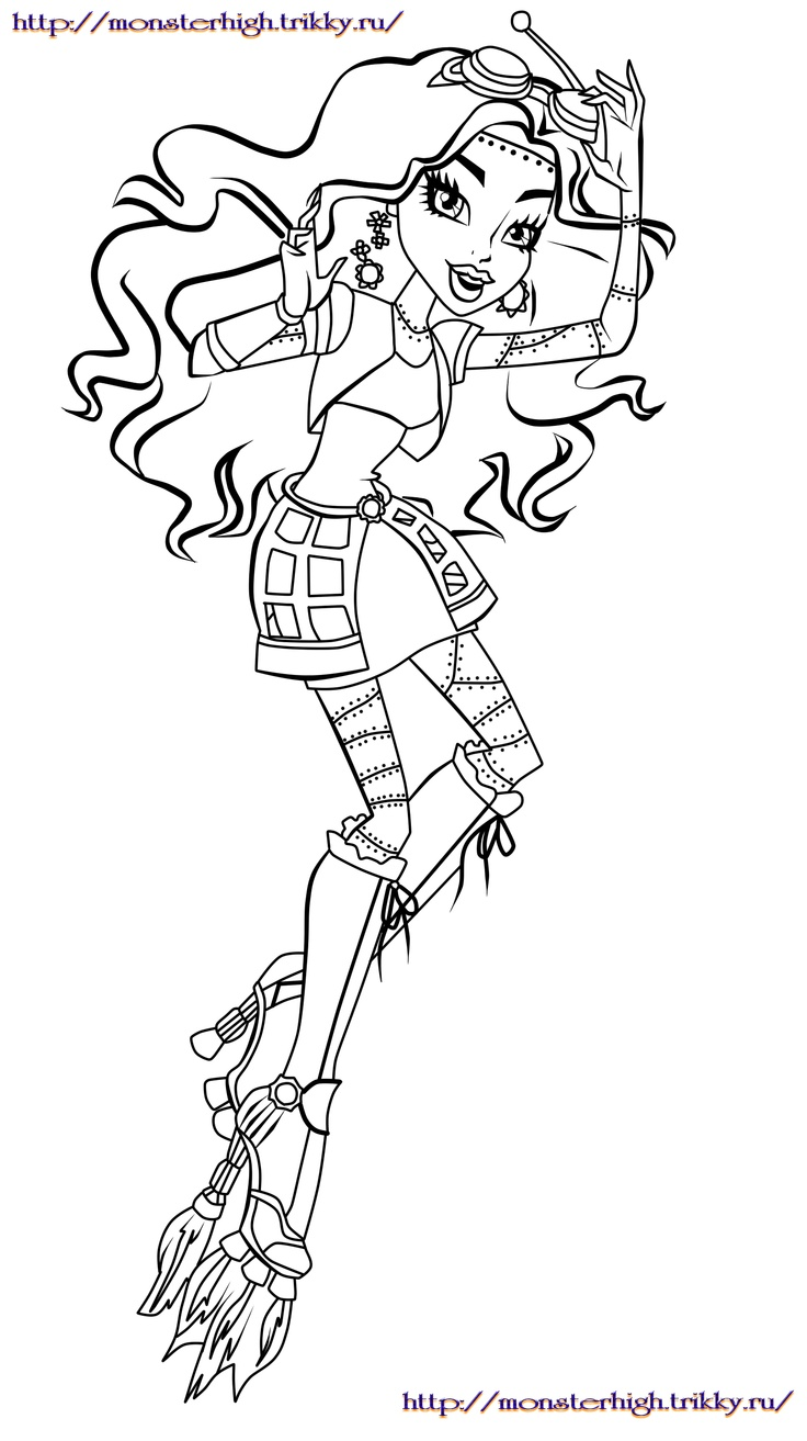 monster high coloring pages a4c - photo#28