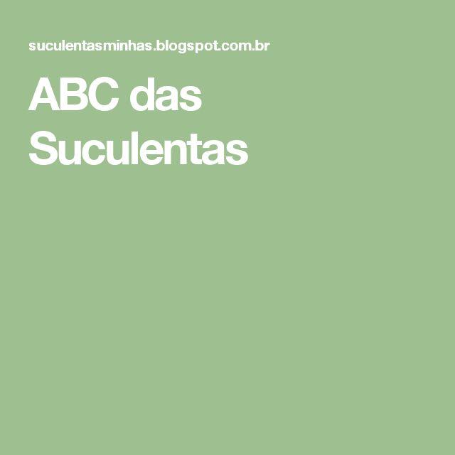 ABC das Suculentas
