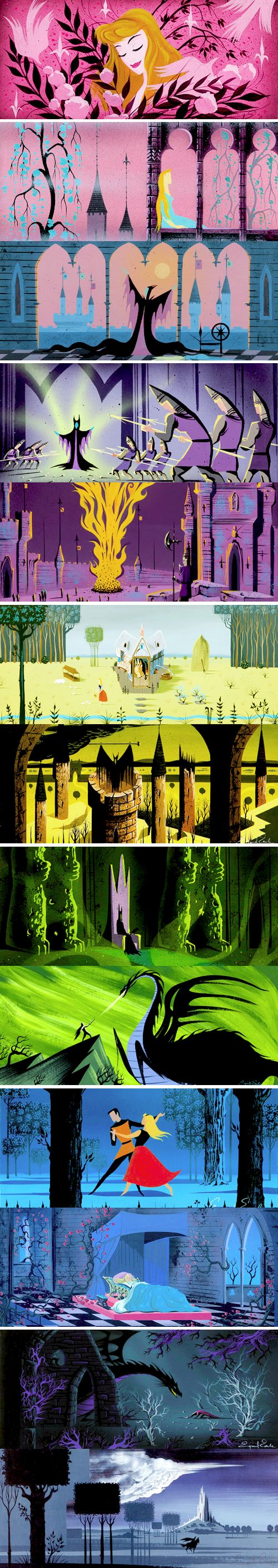 Concept art for Disney's Sleeping Beauty by Eyvind Earle