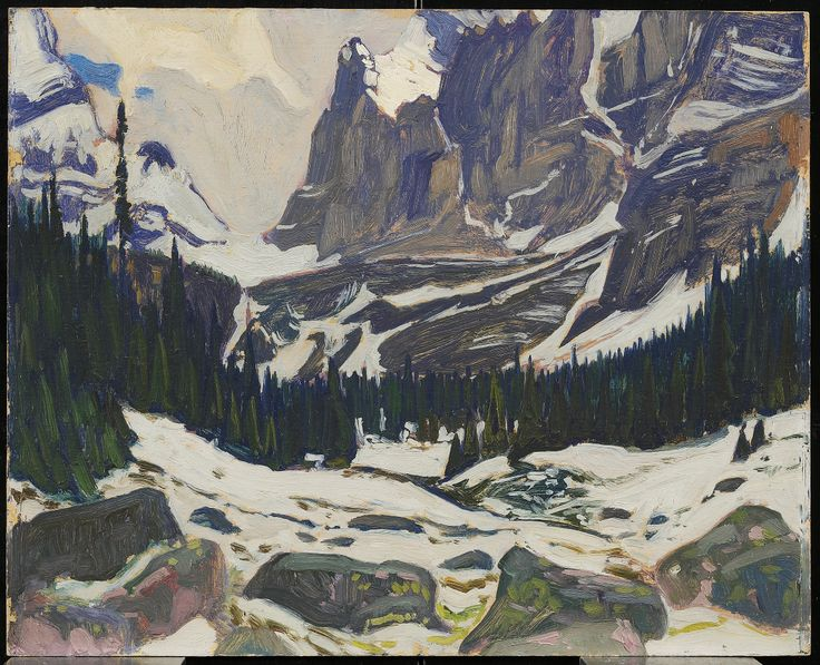 Snow in the Mountains, c. 1930J.E.H. MacDonald, Canadian, 1873 - 1932 Oil on paperboardl: Art Gallery of Ontario