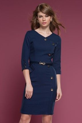 Ruj by #Sln - #Lacivert #Elbise #Trendyol da