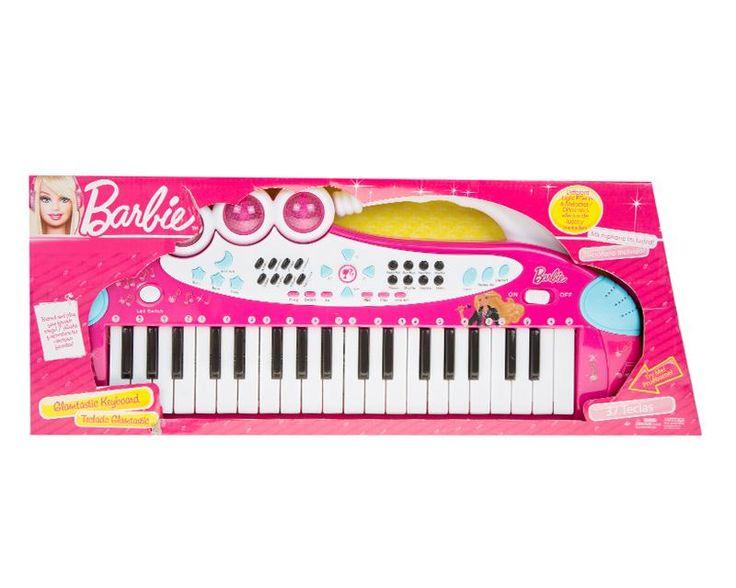 Teclado Con Microfono De Barbie