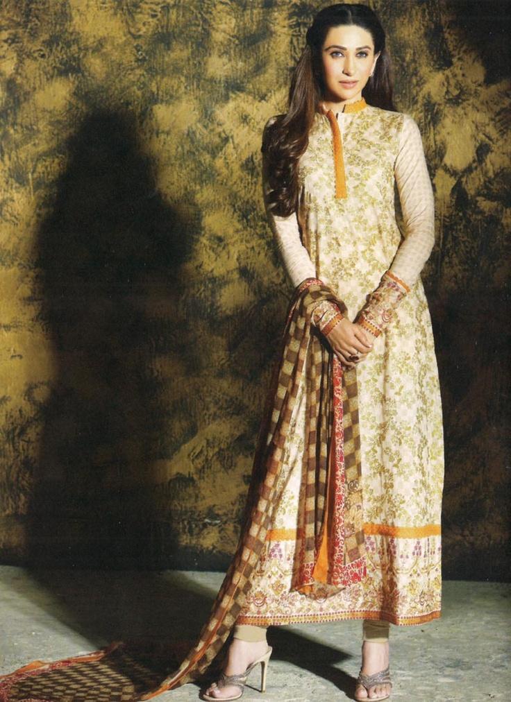 Cream #Pakistani #Suit By Faraaz Mannan