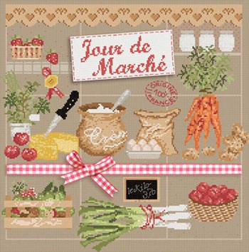 Veggie Cross Stitch Sampler by Madame La Fee.