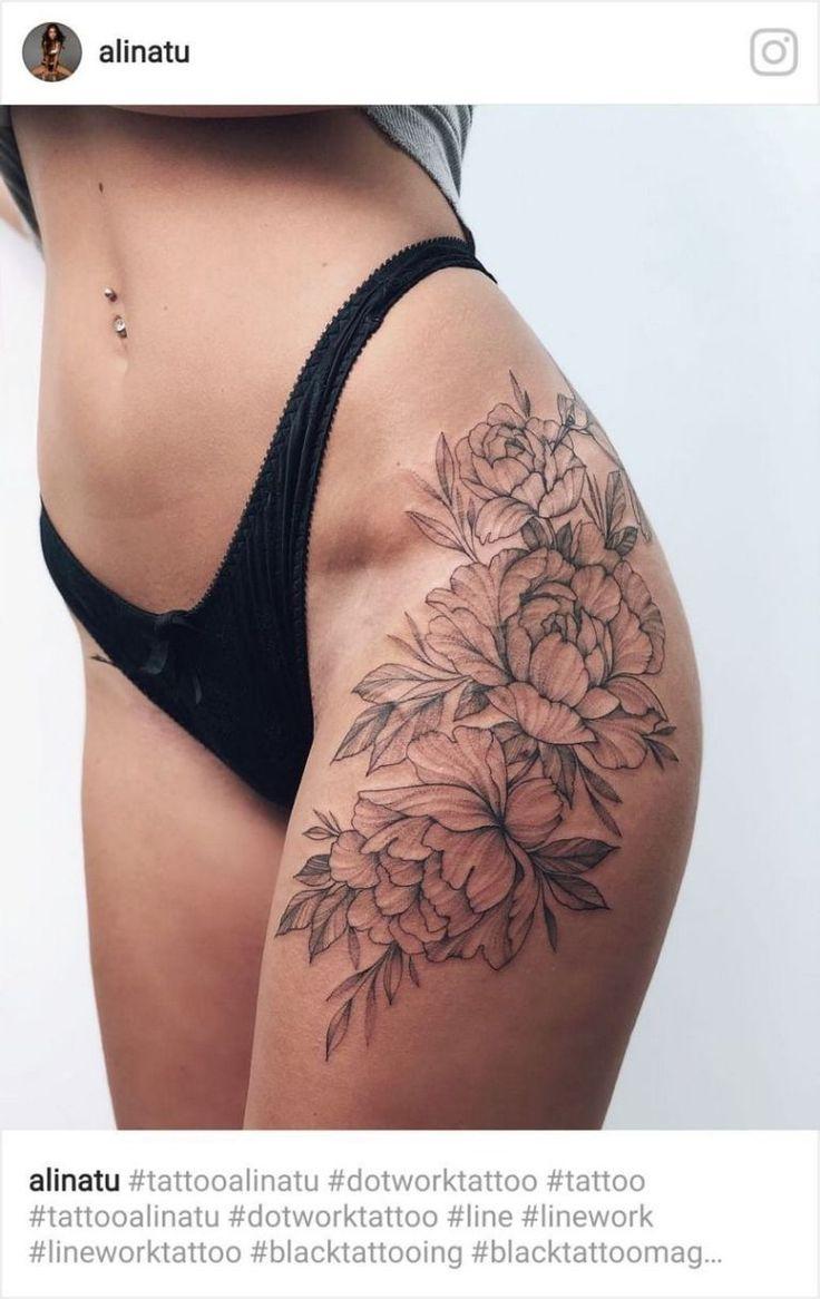 Schöne Blume Tattoo Zeichnung Ideen für Frauen 64   Wagepon-Ideen