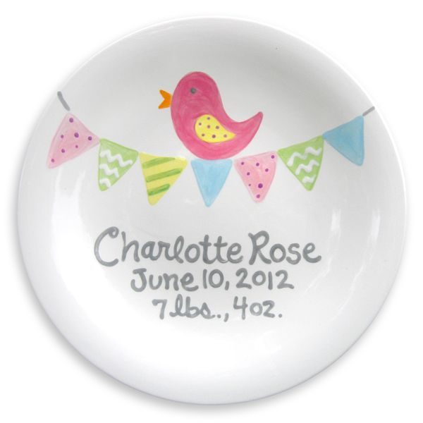 62 best birthdays baby images on pinterest pottery ideas loving this bitty bird personalized birth announcement plate on what an easy diy negle Gallery
