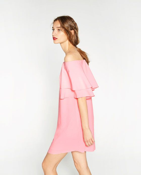 8f721621 Bilde 2 fra KJOLE MED VOLANG fra Zara | simple.class | Dresses, Cheap  summer dresses, Summer dresses