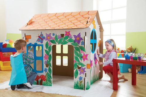Cardboard Play House traditional kids toys