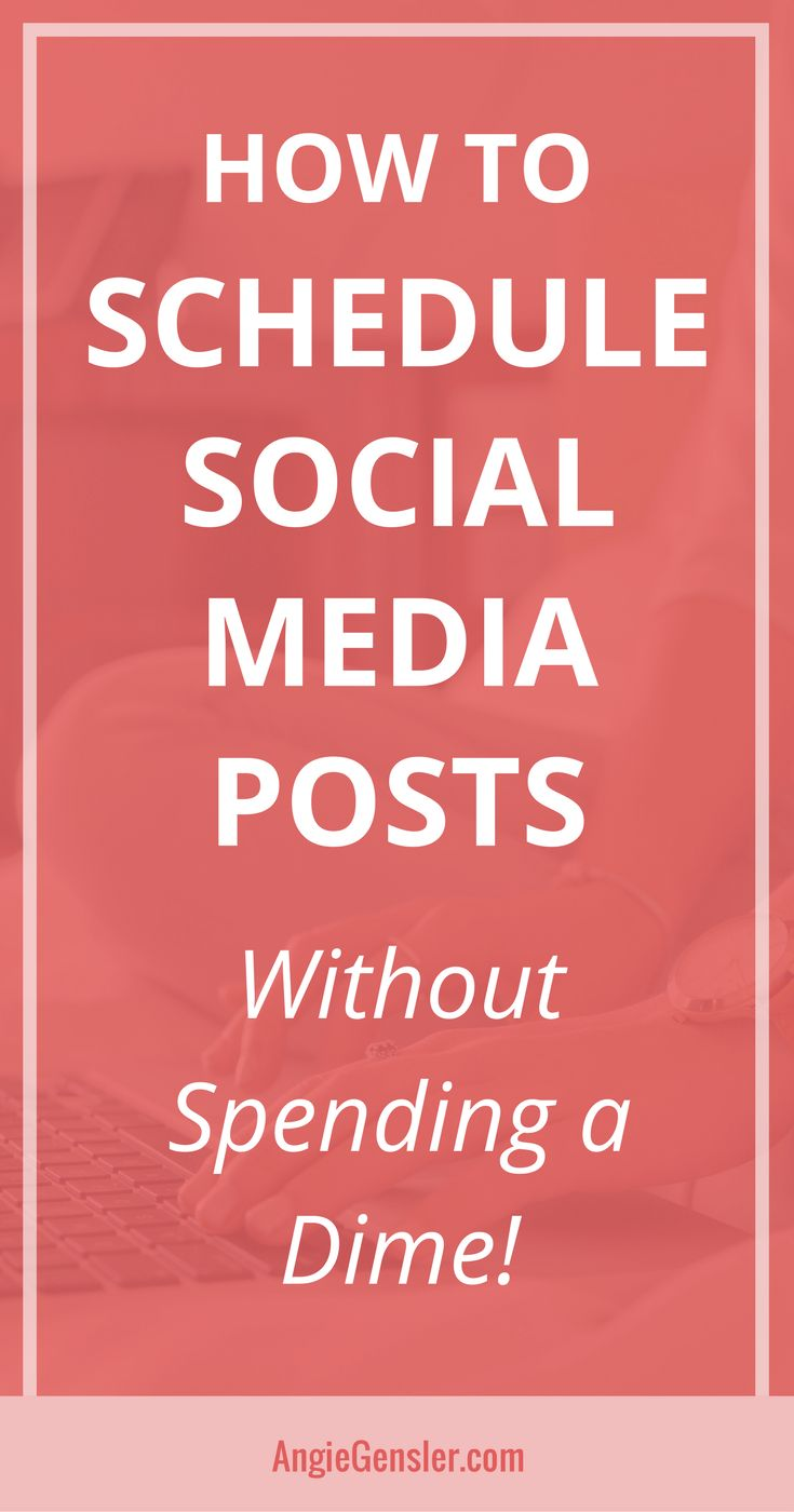 Learn how to schedule social media posts using completely free tools. Includes four step-by-step video tutorials that show you how to schedule content without spending a dime! #socialmedia #socialmediatips #socialmediamarketing