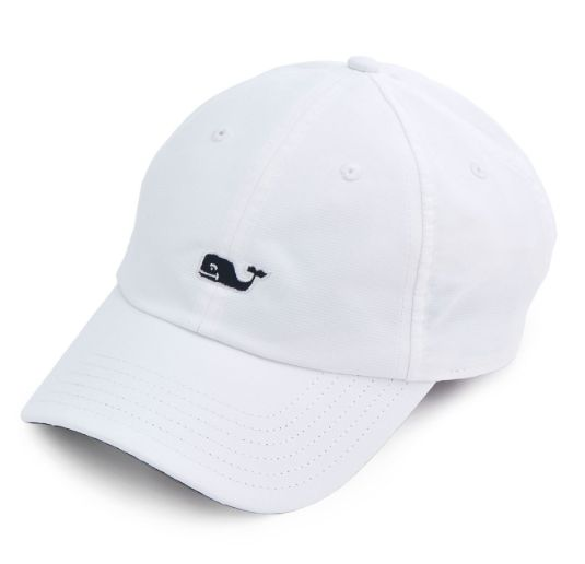 Be at your best. This Vineyard Vines Performance Baseball Hat in White Cap is styled after their classic baseball hat and ready to take on all your favorite sporting activities. · 100% performance pol