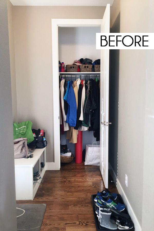 Small Coat Closet Storage Solutions Blue I Style Coat Closet