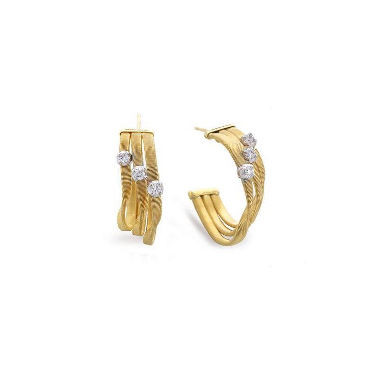 Marco Bicego 18k Multi-Strand Diamond Earrings EAfbqUf