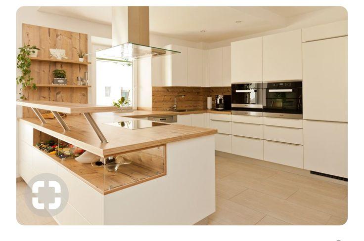 küche weiß mit holzarbeitsplatte - Google-Suche Küche - küchen in u form