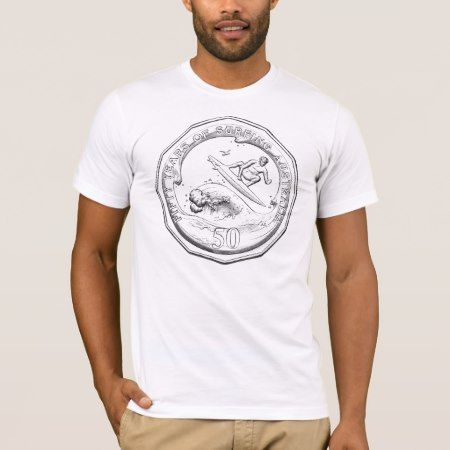 Surfing Australia 50th Anniversary Coin Tee Shirt - tap, personalize, buy right now!