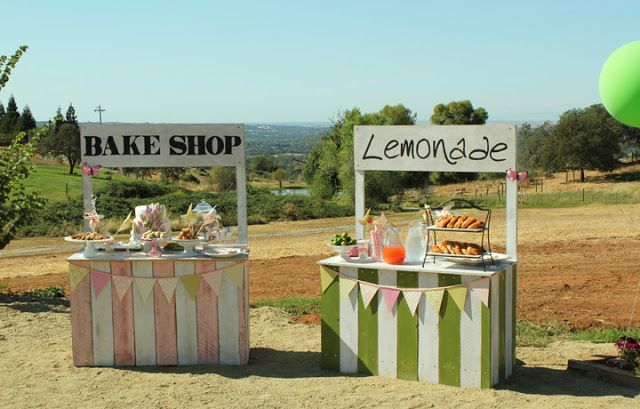 DECORATION: OMG MAKE THESE this is what I've been looking for!!!!!!!! DIY Fun Vintage Food Stands