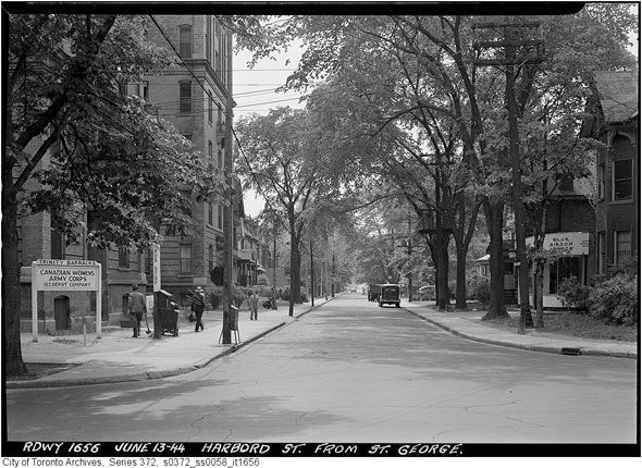 Toronto first apartment. HARDBOARD ST. FROM ST GEORGE JUNE 13 1944