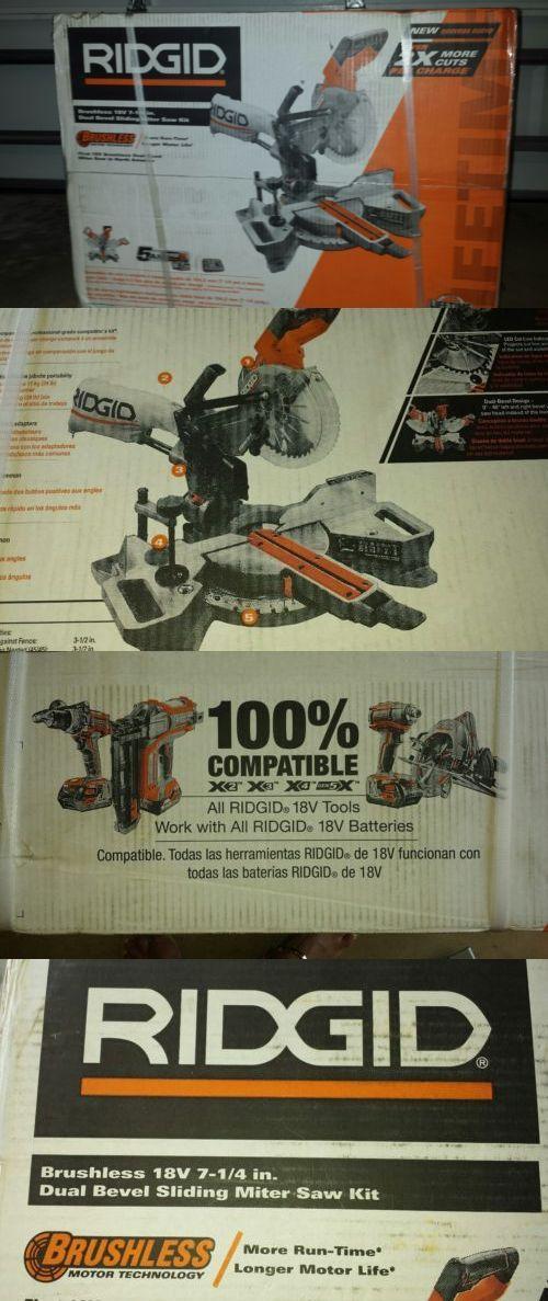 Miter and Chop Saws 20787: Ridgid R48607k 18V 7-1 4 Cordless Brushless Dual Bevel Sliding Miter Saw Kit -> BUY IT NOW ONLY: $325 on eBay!