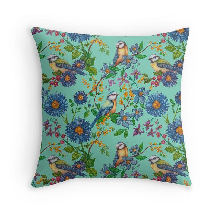 'Song Of Summer' pillow design by Eeva Nikunen.