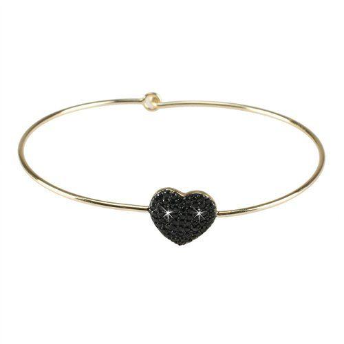 Pulsera finita plata 925 corazón brillantes dorado - Lola Casademunt- Tienda Online - Online Shop