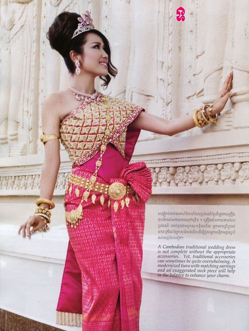 52 best cambodian traditional dresses images on pinterest for Khmer dress for wedding party