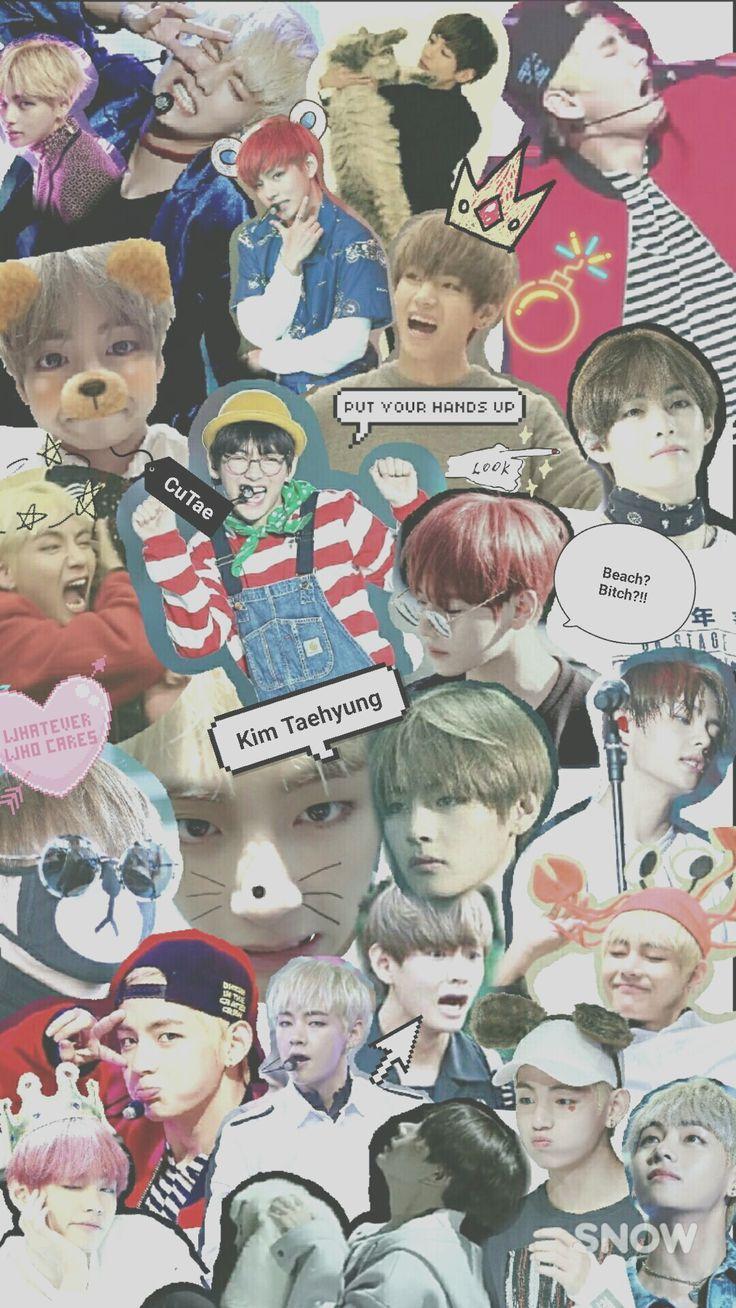 BTS V collage wallpaper