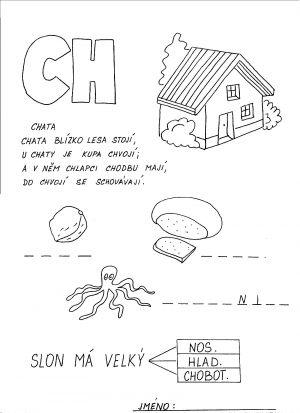 Vyvození písmene CH