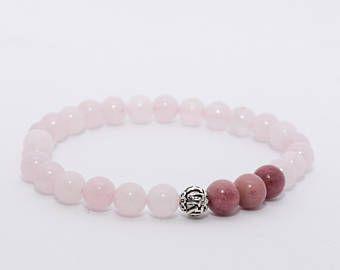 Rose Quartz Bracelet. The Love Stone. Heart Chakra. Boho Bracelet. Yoga Jewelry. Minimalist Bracelet. Relationship Stone.
