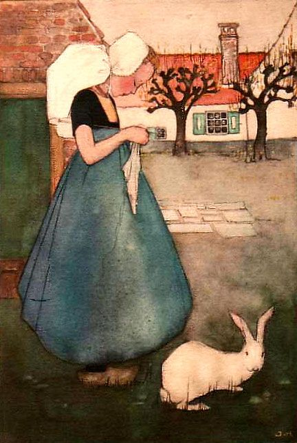 Knitting and a rabbit