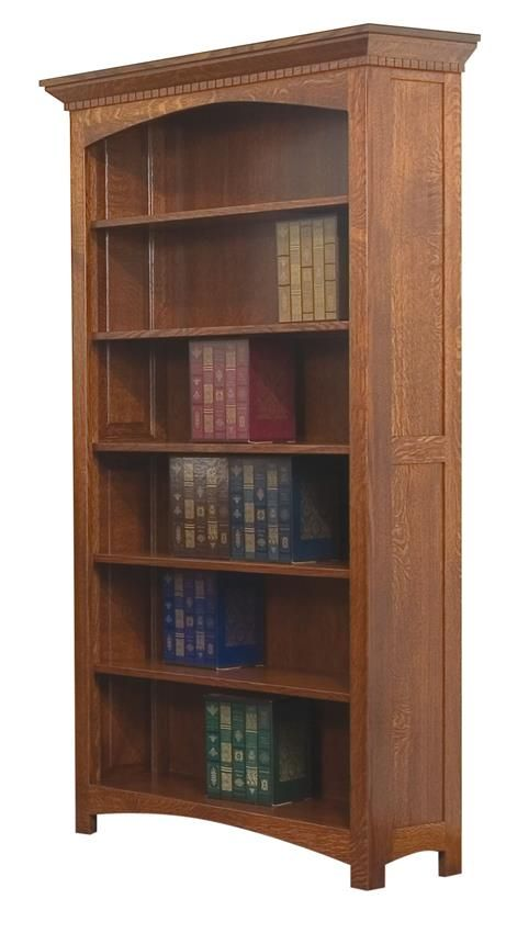 Amish Oakwood Bookcase We have the size you need for your office with this custom made bookcase.