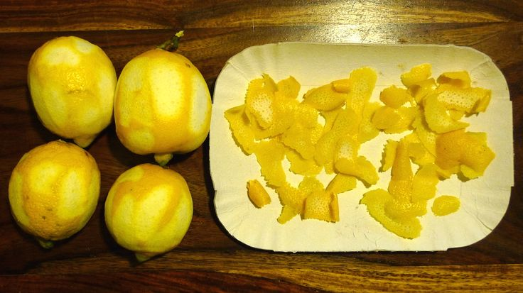 oleolito di limone bucce