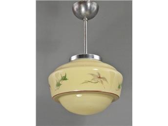 Taklampa - Hallampa på stång - 30-40-tal - Funkis - Art Deco