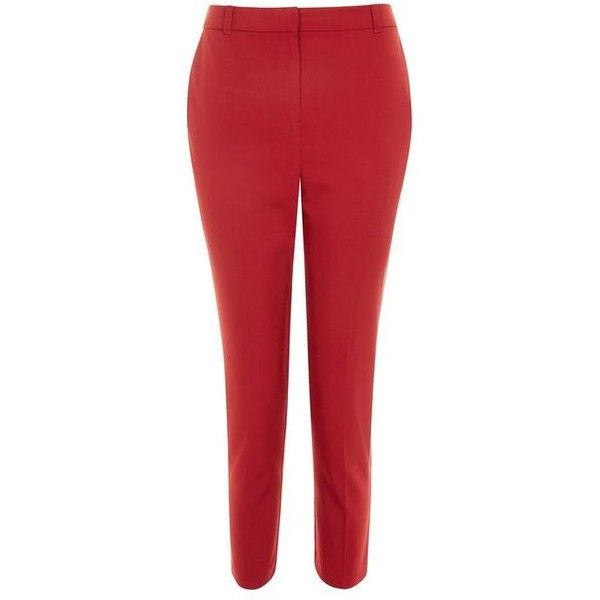 Topshop Petite High Waist Cigarette Trousers ($30) ❤ liked on Polyvore featuring pants, high-waisted pants, petite pants, high waisted trousers, high waisted cigarette trousers and high-waist trousers