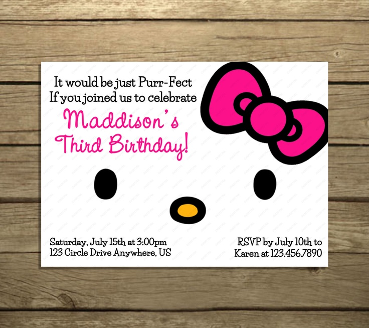 chunky bracelets silver Hello Kitty Birthday Party Invitations Pick by SweetPeaPrintz   5 00