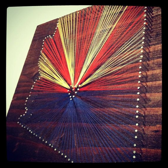 62 best arizona diy images on pinterest creative crafts cactus state string art arizona state flag wall hanging home decor find this pin and more on arizona diy solutioingenieria Image collections