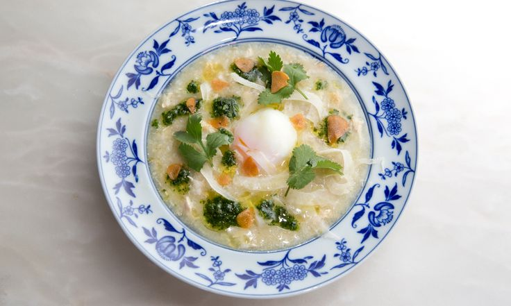 Nuno Mendes' home comfort recipes: confit cod with chickpea salad; rice and chicken soup with piso