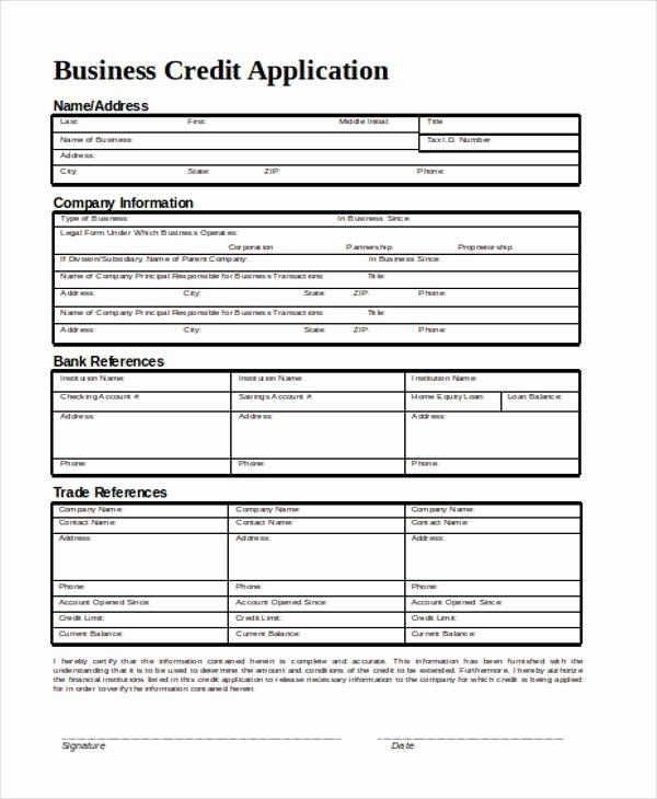 Credit Application Form For Business Awesome Application Form In Word Application Form Job Application Template Job Application Form