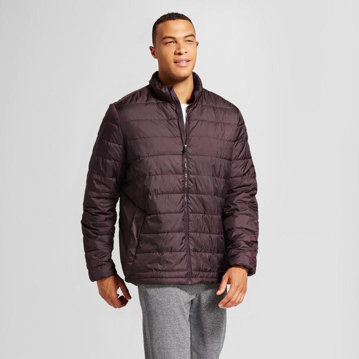 Men's Big & Tall Lightweight Puffer Jacket - C9 Champion Burgundy Blazer L-Tall, Size: LT
