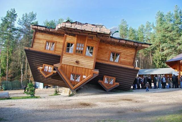 Upside down house, Shimbarke, Poland