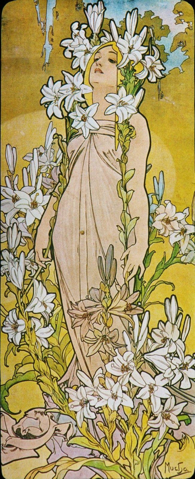 Alfons Mucha. 1898 Lily. The Flowers | Mucha, Alphonse ...