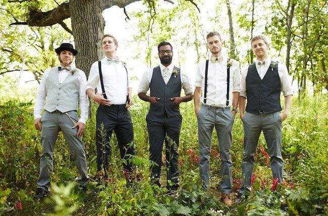 Dapper hipster groomsmen | Wedding Attire | Pinterest