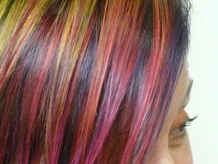 Multi Hair Color Styles: Multi Purple Hair Color