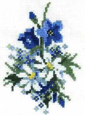 Image result for вышивка крестом схемы васильки