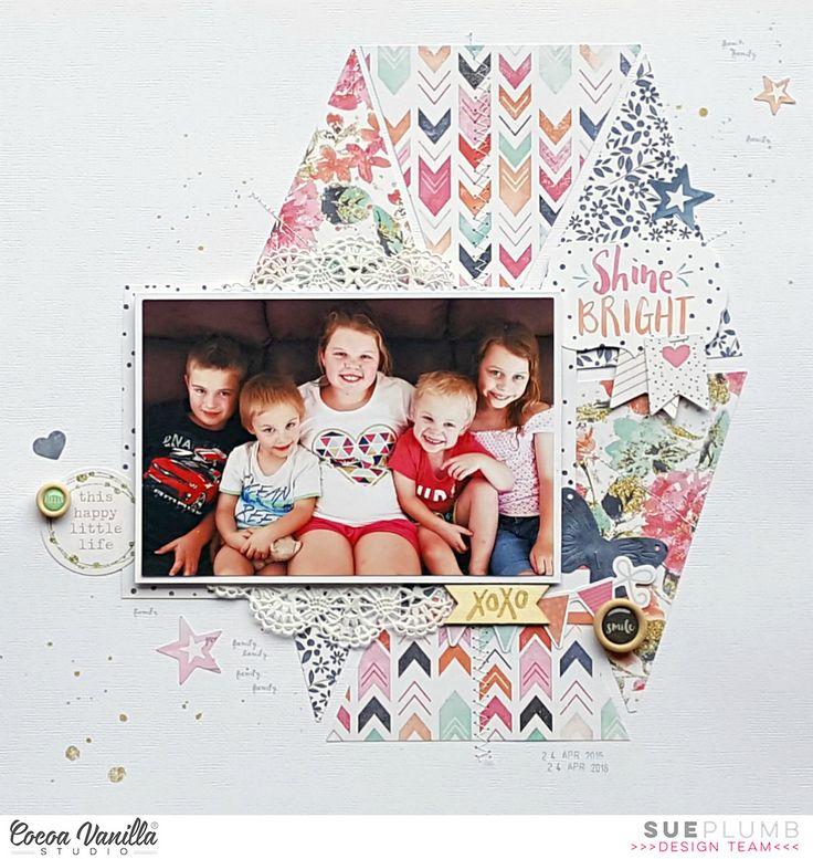 Shine Bright | Free Spirit & Creative Scrappers layout | Sue Plumb