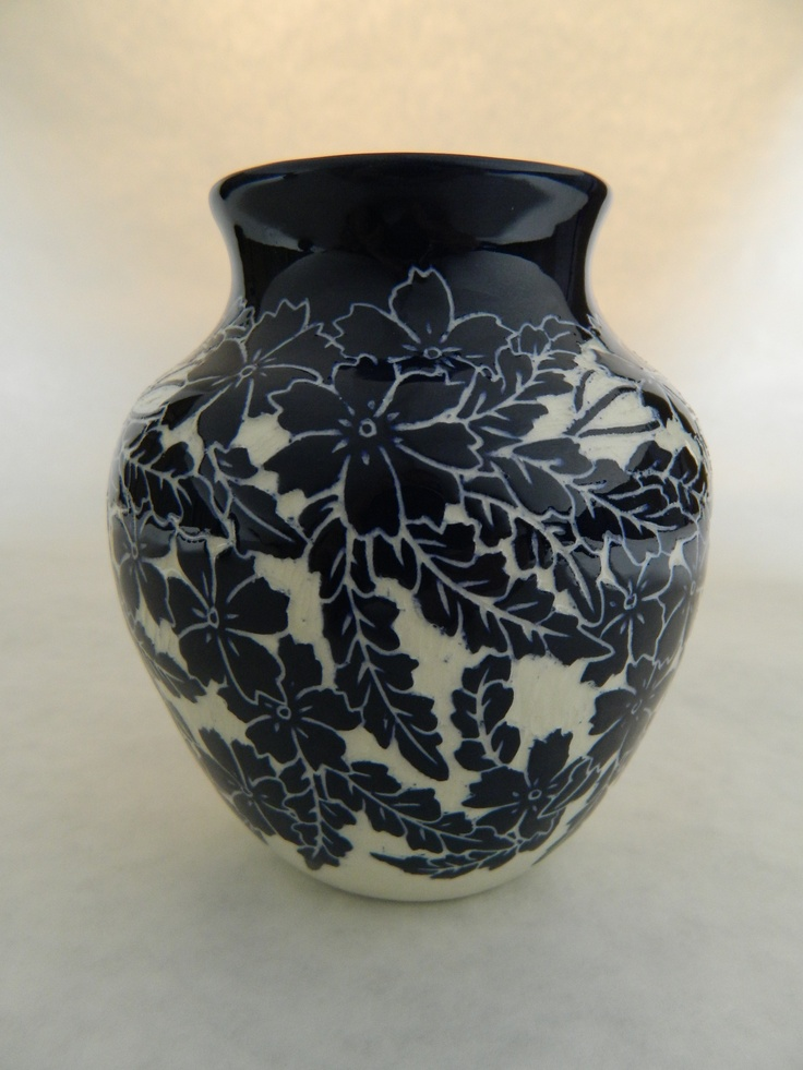 Cosmos vase by Ken Tracy Pottery