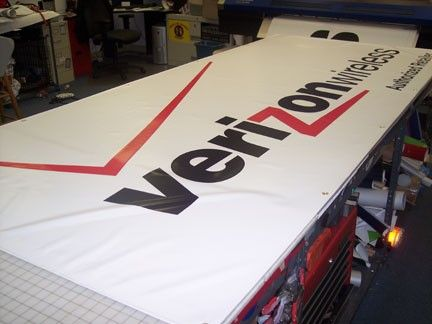 Mesh Banners are made from a tightly woven vinyl-coated material. They are ideal for outdoor applications where heavy winds may be a factor. With a flat finish and flame-retardant material, mesh banners are the way to go. Display your ad in confidence with one of our Custom Mesh Banners. http://www.signsnframes.com/category/5565