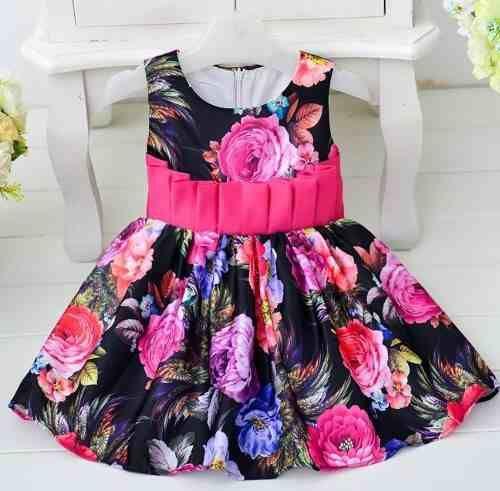 Vestido De Festa Menina Floral - R$ 96,00